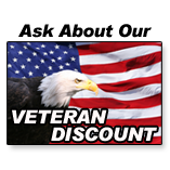 ask about our veteran discount on pest control services